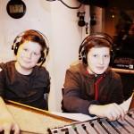 Jakob und Moritz im Studio